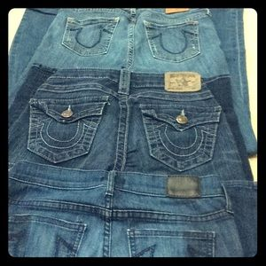 EUC skinny TR jeans orig $200 ea, get ea for $50
